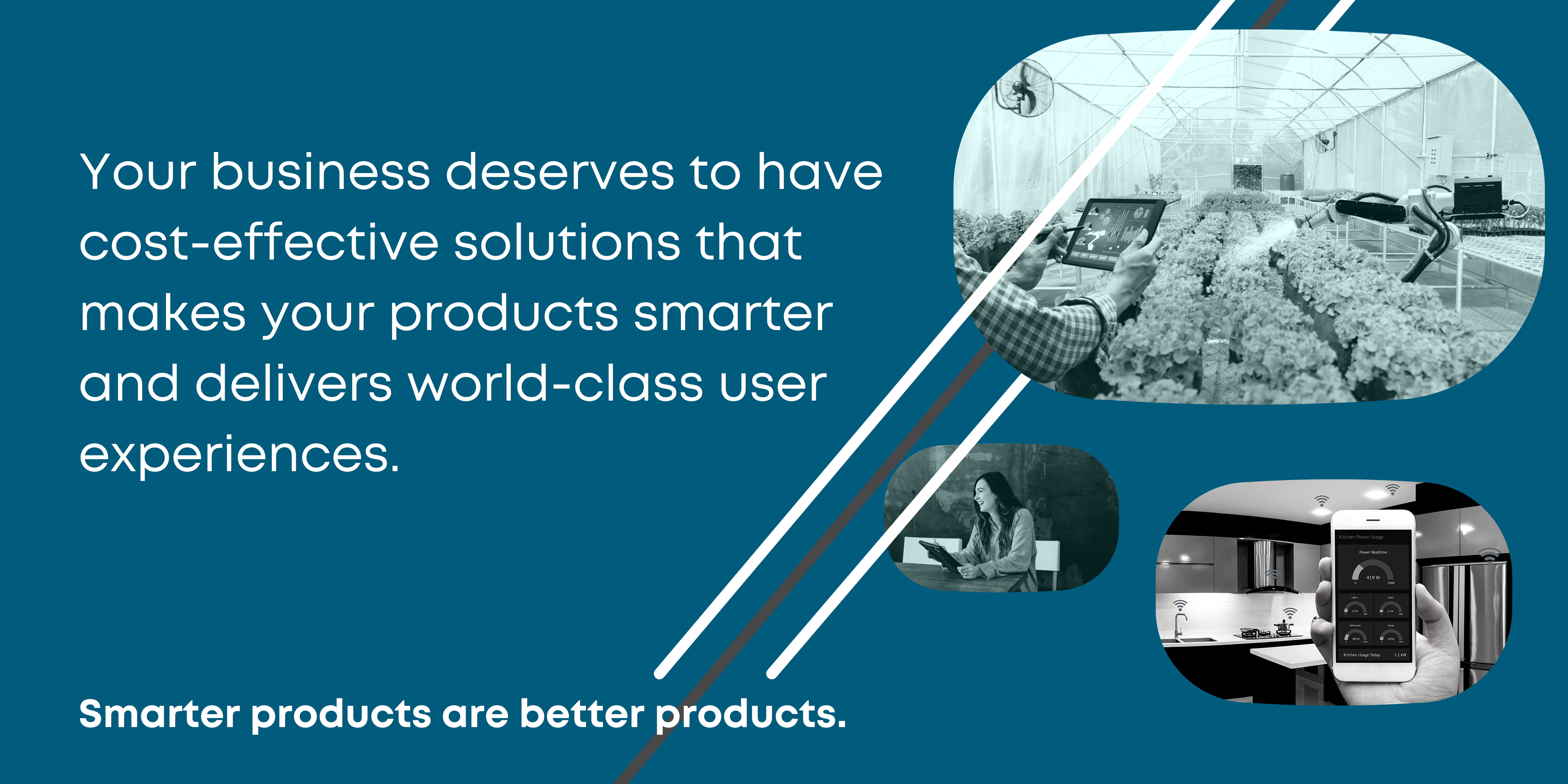 Your business deserves to have cost-effective solutions that makes your products smarter and delivers world-class user experiences
